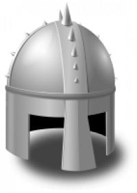 Knight helmet.